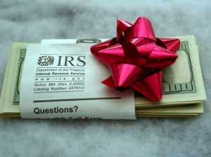 Taxes due for gifts