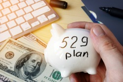 529 plan on a table. College Savings Plan concept.